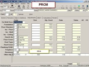 Cost Tab PRCM 3 view