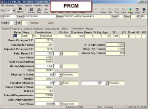 Cost Tab PRCM view