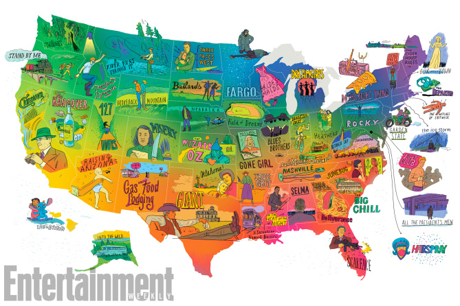 US map of movies
